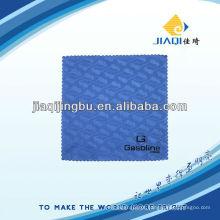 Pano de limpeza de microfibra com impressão em borracha