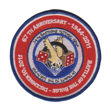 Custom PVC Embroidered Patches Made by Twill