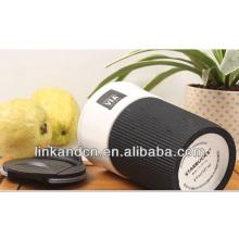 Haonai 2014 горячие продажи! Костяной фарфоровой чашки с пластиковой крышкой и рукавом