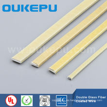 Doble fibra de vidrio envuelta alambre rectangular, fibra de vidrio recubierto de alambre plano, alambre de aluminio y cobre de fibra de vidrio envuelto