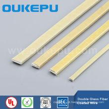 Fibra de vidro duplo enrolado fio retangular, fibra de vidro revestida de fio liso, fio de alumínio/cobre enrolado de fibra de vidro