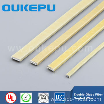 Double Glass Fiber wrapped rectangular wire,Fiber Glass coated flat ...