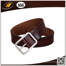 Cinto de couro de fivela de botão para homens de alta qualidade personalizado (HJ0129)