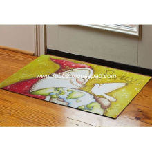 Heat Transfer Printed Rubber Floor Carpet Polyester With Cute Design For Home / Office
