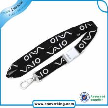 Cordón tejido poliéster impreso logotipo personalizado