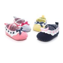 Moda Bowknot Soft Sole Sapatos de Bebê Infantil Criança Mocassins