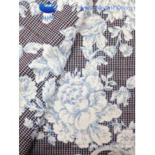 Azul design de flores de impressão sofá tecido (BS8129-2)