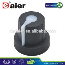 KN-1614 DAIER Potentiometer 6mm Black Rubber Knob Knobs Potentiometer Knob