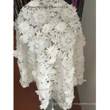 Tejido de alto nivel del grado del nuevo diseño para las prendas de vestir de la manera, bordado soluble en agua Tejido del bordado del laser de Farbic