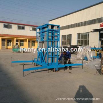 Populaire utile 13,7 m électrique petit mât élévateur à la maison escalade plate-forme de travail aérien