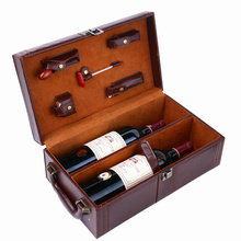 Embossing Hot Foil Carton Paper Red Wine Packaging Gift Box