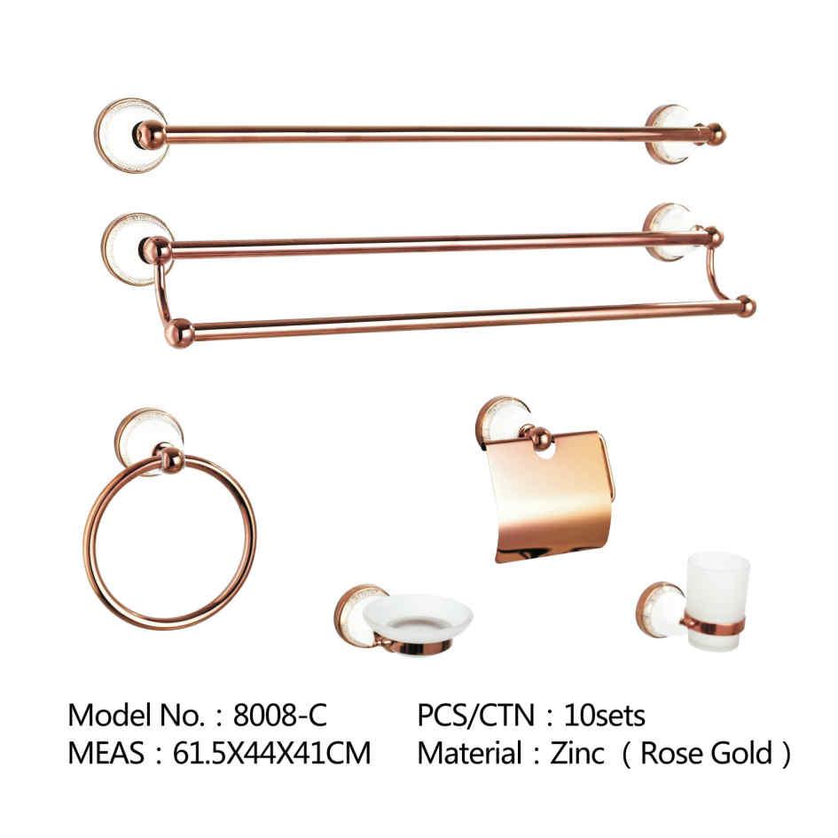 Sanitary Hardware Set Bathroom Accessory Rose Gold Bathroom Accessories