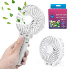 Wholesale Price for Rechargeable Mini Fan Cooling Foldable Electric Inflatable Fan USB Fan White supply to South Korea Exporter