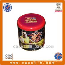 Custom Design Gold Foil Round Packaging Caixa de lata de chocolate