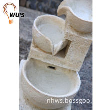 Hot sale factory directly beige marble wall fountains for garden