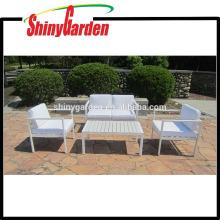 Alta calidad interior 4pcs muebles de aluminio sofá conjunto