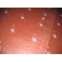 Contraplacado revestido de filme com logotipo para cofragem de betão