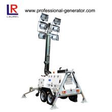 Tour de lumière télescopique de 10 mètres, générateur diesel Tour de lumière mobile