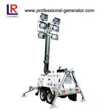 10 Meter Telescopic Light Tower, Diesel Generator Mobile Light Tower