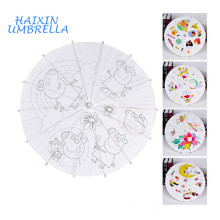 Trad Japanese Wholesale Blank Oil Paper Handmade Children DIY Painting Bamboo Chinese Umbrella Paper Small Decorative Parasols