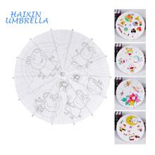 Трад оптом японские пустой бумаги ручной работы детей DIY Живопись бамбука китайский зонтик бумаги небольшие декоративные зонтики