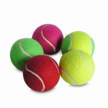 Tennis/Pet Balls, Customized Logos are Welcome, Made of Rubber and Fabric Materials