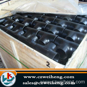 reducing Tee Q235 carton steel black