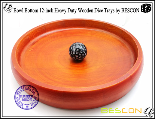 Bowl Bottom 12-inch Heavy Duty Wooden Dice Trays by BESCON-6