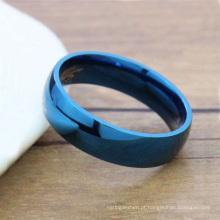 Senhoras design anel de titânio azul, jóias anel feminino