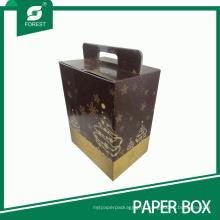 Caixa de presente promocional impressa cor personalizada do vinho do Natal