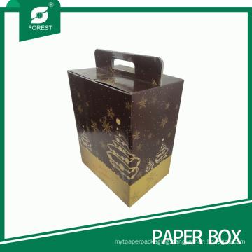 Custom Color Printed Promotional Christmas Wine Gift Box