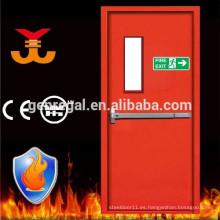 Salida de emergencia BS 2 horas con puerta de acero con clasificación de incendio