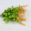 wall decoration durable hanging faux leaves of plant with fireproof test