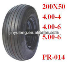 "Pneumatic Rubber wheelbarrow tyre 10""x4.00-4"