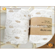 Manta de bebé de material de algodón orgánico de embalaje de papel con precio barato