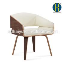 Новый деревянный стул для гостиной высокое качество белый кожаный стул отдыха