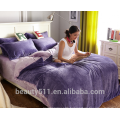 High quality colorful winter warm flannel bed comforter sheet BS484
