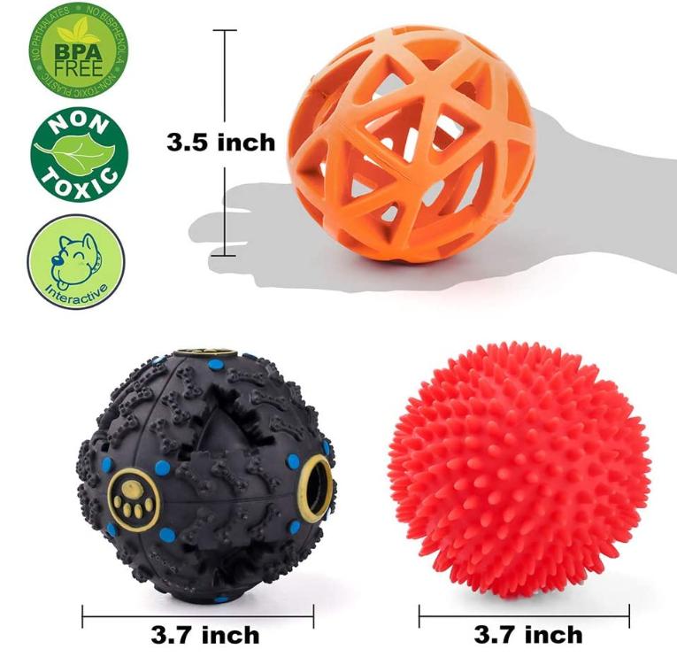 Dog Food Dispenser Toy Balls