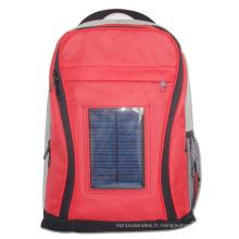 Sac à bagages à la mode, sacs avec chargeur solaire avec sac à dos de batterie 2200mah avec solaire