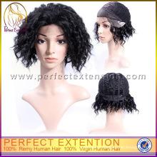 Todos Expresso Excelente Barato Curto Comprimento Afro Curl Lace Peruca