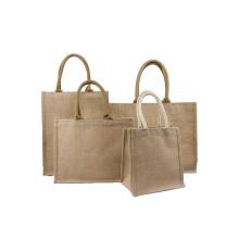 OEM Custom Printing Natural Color Durable Recycled Eco-Friendly Women Jute Burlap Tote Bag