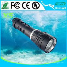 HI-MAX high power led bulb scuba diving flashlight