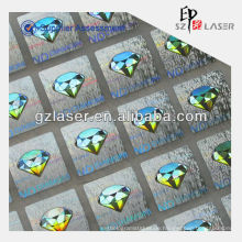 Hologramm selbstklebender Aufkleber mit PET-Folie oder Papiermaterial