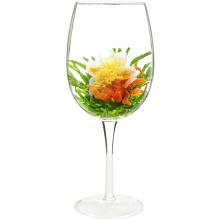 Amor de lírio vermelho Teabloom Coração em forma de flores de chá florescendo com sabor de pêssego