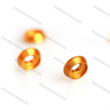 Colorido M3 / M4 / M5 Aluminio avellanado arandela cónica de oro