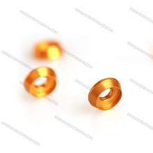 Alumínio cônico M3 / M4 / M5 colorido escareado da arruela do ouro