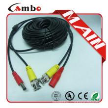 Cordon de raccordement coaxial de haute qualité DC + connecteur BNC pour surveillance CCTV