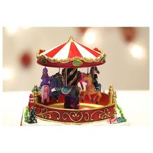 belle boîte à musique de cheval carrousel main faveurs de mariage boîte à musique