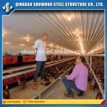 Design pré-fabricado Farm Shed Low Cost Steel Structure Poultry House