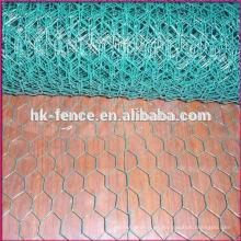 Malla de aves de corral hexagonal de malla de alambre recubierto de PVC alambre recubierto de alambre